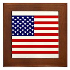 United States Flag Framed Tile