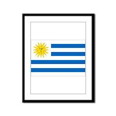 Uruguay Flag Framed Panel Print