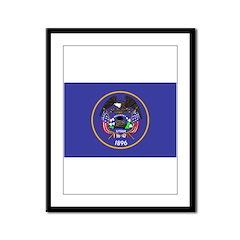 Utah Flag Framed Panel Print