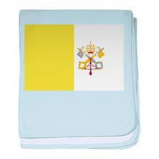 Vatican City Flag baby blanket