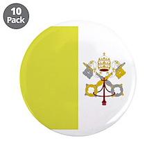 "Vatican City Flag 3.5"" Button (10 pack)"