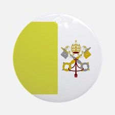 Vatican City Flag Ornament (Round)