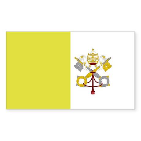 Vatican City Flag Sticker (Rectangle)