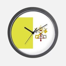 Vatican City Flag Wall Clock