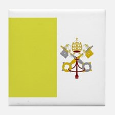 Vatican City Flag Tile Coaster