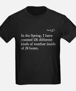 Mark Twain, Funny Weather Quote, T