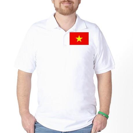 Vietnam Flag Golf Shirt