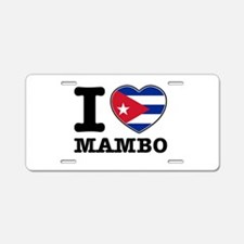 I love Mambo Aluminum License Plate