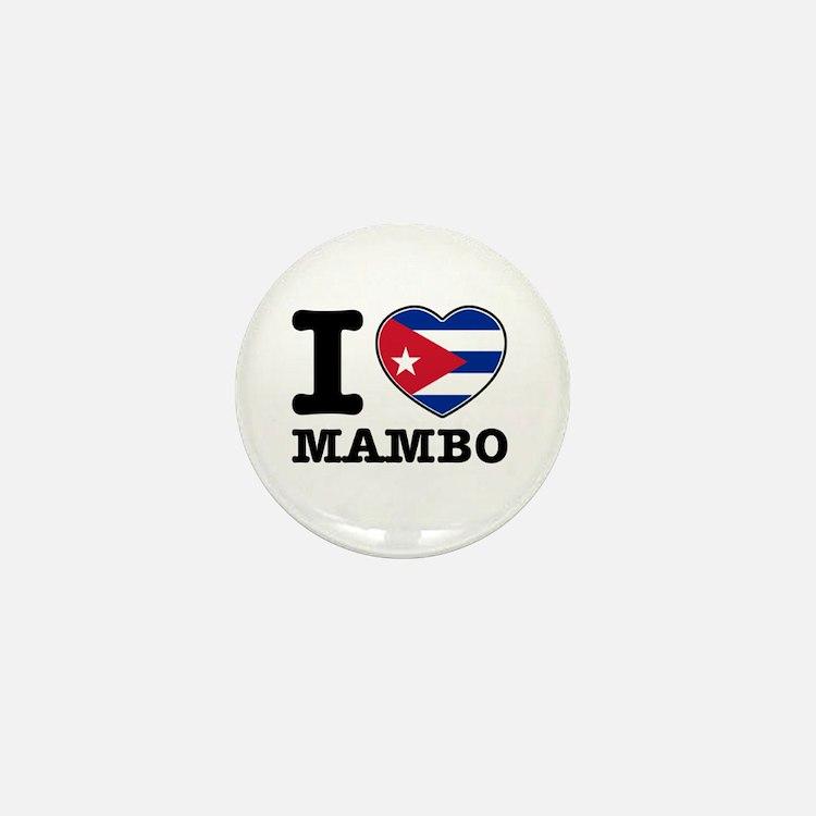 I love Mambo Mini Button (10 pack)