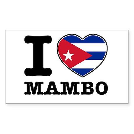 I love Mambo Sticker (Rectangle)