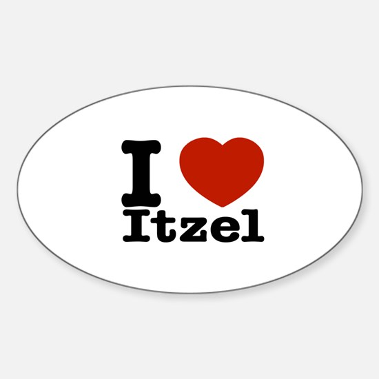 I love Itzel Sticker (Oval)
