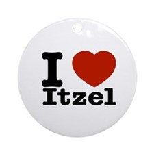I love Itzel Ornament (Round)