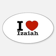 I love Izaiah Sticker (Oval)