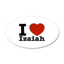 I love Izaiah 38.5 x 24.5 Oval Wall Peel