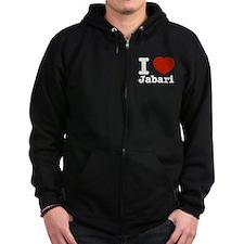 I love Jabari Zip Hoodie