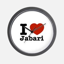 I love Jabari Wall Clock