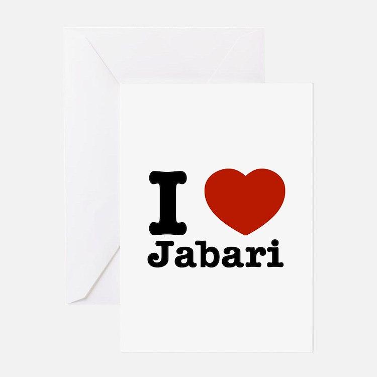 I love Jabari Greeting Card