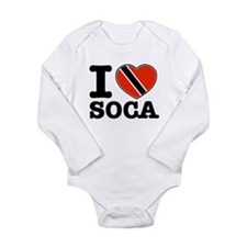I love Soca Long Sleeve Infant Bodysuit