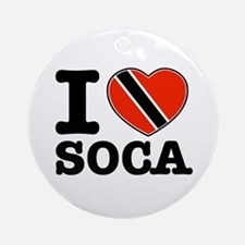 I love Soca Ornament (Round)