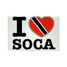 I love Soca Rectangle Magnet (10 pack)
