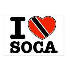 I love Soca Postcards (Package of 8)