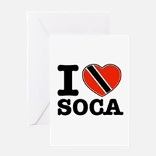 I love Soca Greeting Card