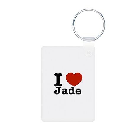 I love Jade Aluminum Photo Keychain
