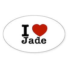 I love Jade Sticker (Oval)