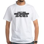 Anger Management White T-Shirt