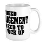 Anger Management Large Mug