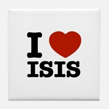 I love Isis Tile Coaster