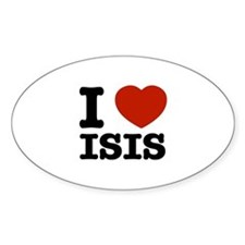 I love Isis Sticker (Oval)