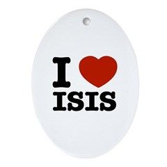 I love Isis Ornament (Oval)