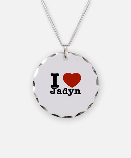 I love Jadyn Necklace Circle Charm