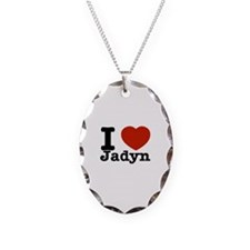 I love Jadyn Necklace Oval Charm