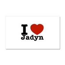 I love Jadyn Car Magnet 20 x 12