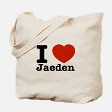 I love Jaeden Tote Bag