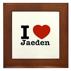 I love Jaeden Framed Tile