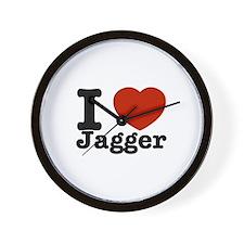 I love Jagger Wall Clock