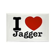 I love Jagger Rectangle Magnet