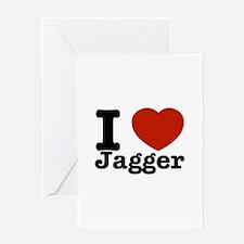 I love Jagger Greeting Card