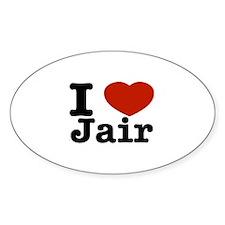 I love Jair Decal