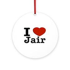 I love Jair Ornament (Round)