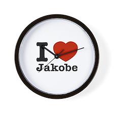 I love Jakobe Wall Clock