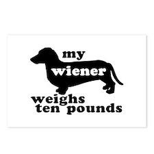 Ten Lb. Wiener Postcards (Package of 8)