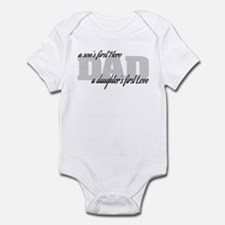 Son's First Hero - Daughter's Firs Infant Bodysuit