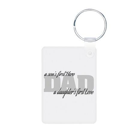 Son's First Hero - Daughte Aluminum Photo Keychain