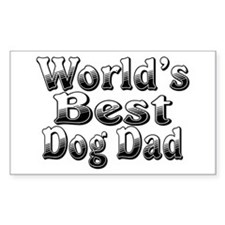 WORLDS BEST Dog Dad Decal