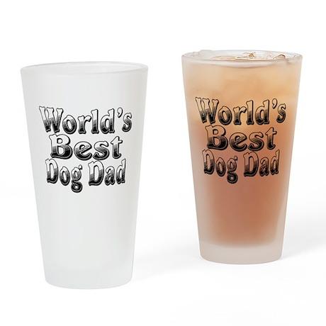 WORLDS BEST Dog Dad Drinking Glass