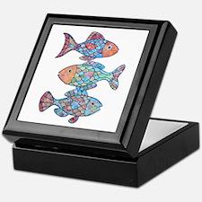 Fishes 3 Keepsake Box